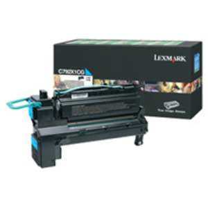 Lexmark C792X1CG High Capacity Cyan (Return Program) Toner Cartridge, 20K Page Yield