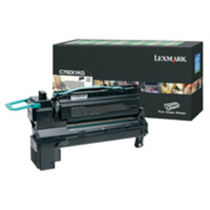 Lexmark C792X1KG Black (Return Program) Toner Cartridge, 20K Page Yield
