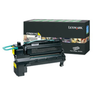 Lexmark C792X1YG Yellow (Return Program) Toner Cartridge, 20K Page Yield