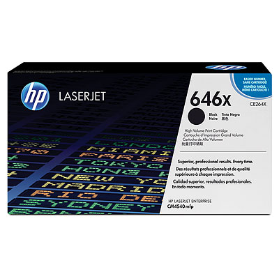 HP CE264X Black (646X) Toner Cartridge - CE 264X