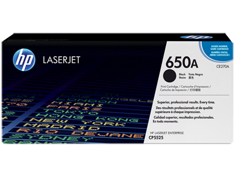 HP CE270A Black (650A) Toner Cartridge - CE 270A