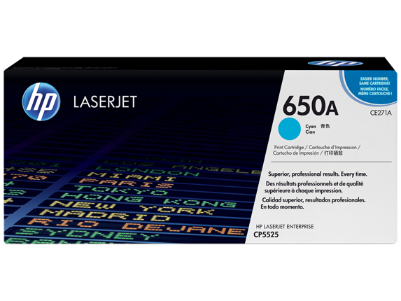 HP CE271A Cyan (650A) Toner Cartridge - CE 271A