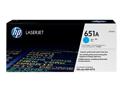 HP 651A Cyan Toner Cartridge - CE 341A