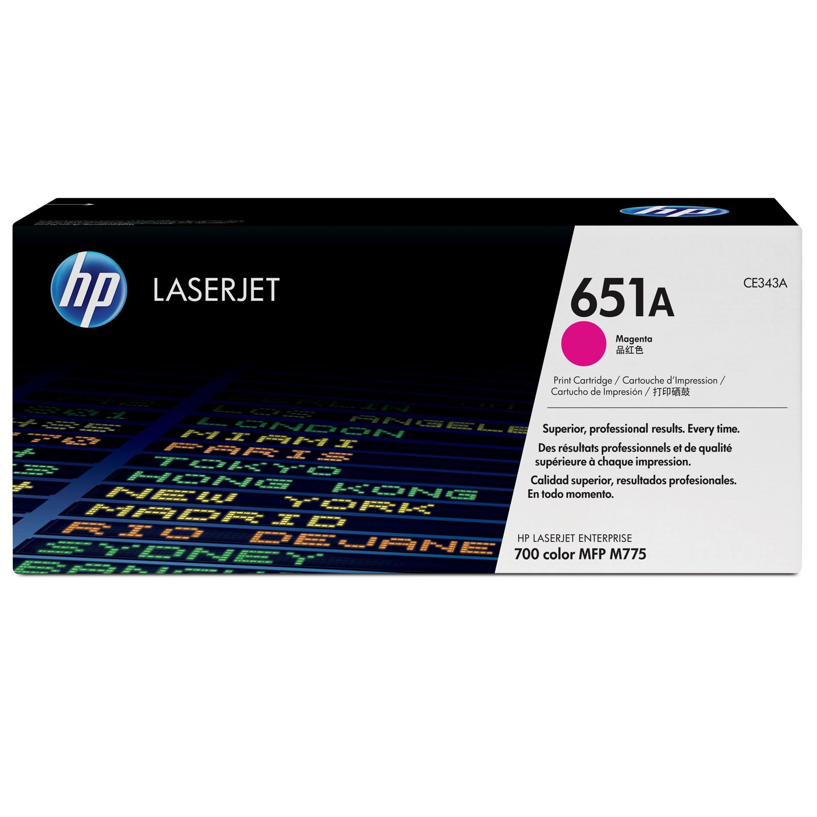 HP 651A Magenta Toner Cartridge - CE 343A