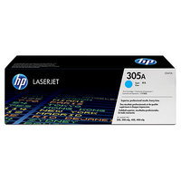 HP CE411A Cyan (305A) Toner Cartridge - CE411A, 2.6K Page Yield
