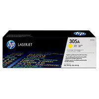 HP CE412A Yellow (305A) Toner Cartridge - CE412A, 2.6K Page Yield