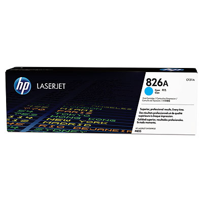 HP 826A Cyan Toner Cartridge, 31.5K Page Yield
