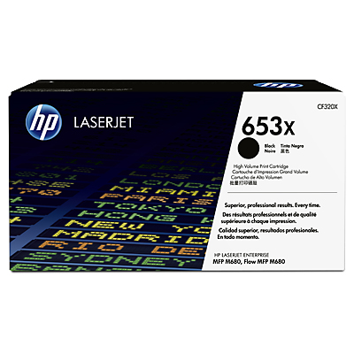 HP 653X Black Toner Cartridge, 21K Page Yield