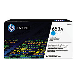 HP 653A Cyan Toner Cartridge, 16.5K Page Yield