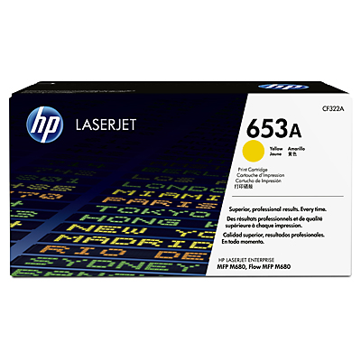 HP 653A Yellow Toner Cartridge, 16.5K Page Yield