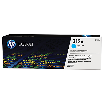 HP 312A Cyan Toner Cartridge, 2.7K Page Yield
