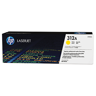 HP 312A Yellow Toner Cartridge, 2.7K Page Yield