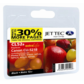 Jet Tec CLI-521 Black Ink Cartridge, 11ml