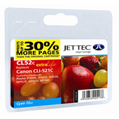 Jet Tec CLI-521 Cyan Ink Cartridge, 11ml