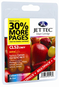 Jet Tec CLI-521 Cyan, Magenta, Yellow Ink Cartridges, 11ml x 3