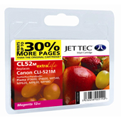 Jet Tec CLI-521 Magenta Ink Cartridge, 11ml