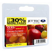 Jet Tec CLI-521 Yellow Ink Cartridge, 11ml