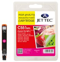 Jet Tec CLI-551XL Magenta Ink Cartridge, 11ml