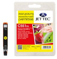 Jet Tec CLI-551XL Yellow Ink Cartridge, 11ml