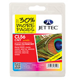 Jet Tec CLI-526 Cyan, Magenta, Yellow Ink Cartridges, 11ml x 3