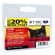 Jet Tec CLI-8 Black Ink Cartridge, 15.5ml