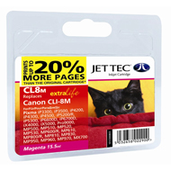 Jet Tec CLI-8 Magenta Ink Cartridge, 15.5ml