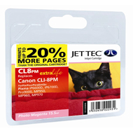 Jet Tec CLI-8 Photo Magenta Ink Cartridge, 15.5ml