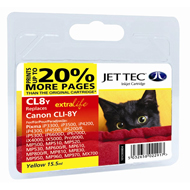 Jet Tec CLI-8 Yellow Ink Cartridge, 15.5ml