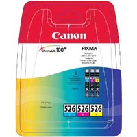 Canon ChromaLife100+ CLI 526 C/M/Y Multi Pack Ink Cartridge ( 526CMY )