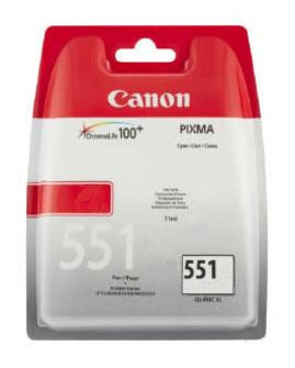 Canon 551 Cyan Ink Cartridge - CLI 551C, 7ml