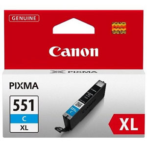 Canon 551XL High Capacity Cyan Ink Cartridge - CLI 551XL C, 11ml