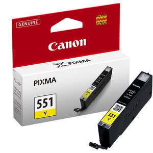 Canon 551 Yellow Ink Cartridge - CLI 551Y, 7ml