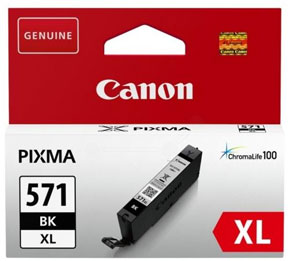 Canon 571XL High Capacity Black Ink Cartridge - CLI 571XL BK, 11ml