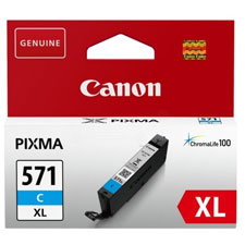 Canon 571XL High Capacity Cyan Ink Cartridge - CLI 571XL C, 11ml