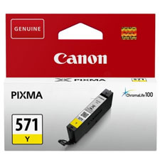 Canon 571 Yellow Ink Cartridge - CLI 571Y, 7ml