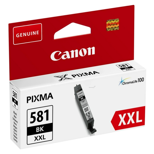 Canon 581XXL Extra High Capacity Black Ink Cartridge - CLI 581XXL BK, 12ml