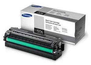 Samsung High Capacity CLT K506L Black Laser Toner Cartridge, 6K Page Yield