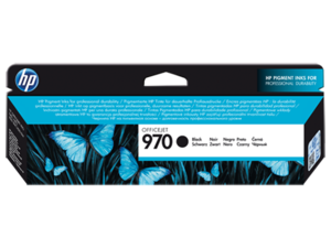 HP 970 Black Ink Cartridge, CN621A, 3K Page Yield