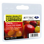 Jet Tec PGI-520 Black Ink Cartridge, 23ml