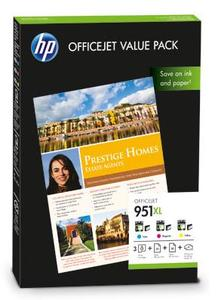 HP 951XL High Capacity Multipack CMY Ink Cartridges - CR712A with 75 A4 Sheets