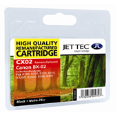 Jet Tec CX02 Black Cartridge (Canon BX-2 Black)