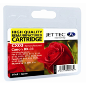 Jet Tec CX03 Black Cartridge (Canon BX-3 Black)