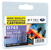 Replacement Black Ink Cartridge (Alternative to Dell 7Y743)
