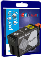 Compatible High Capacity Pigment Photo Black XL Ink Cartridge for Epson T1571 - 29.5ml