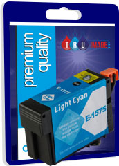 Compatible High Capacity Pigment Light Cyan XL Ink Cartridge for Epson T1575 - 29.5ml