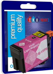 Compatible High Capacity Pigment Light Magenta XL Ink Cartridge for Epson T1576 - 29.5ml