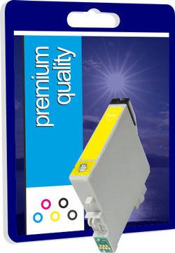 Premium Quality Compatible T0614 Yellow Ink Cartridge, 18ml
