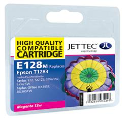 Jet Tec E128M Compatible Magenta Ink Cartridge for T0128340, 3.5ml