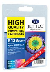 Jet Tec Black, Cyan, Magenta, Yellow Ink Cartridges Multi Pack BK/C/M/Y Ink Cartridges