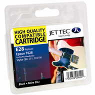 Jet Tec ( Made in the UK) Black Ink Cartridge for T028401, 20ml
